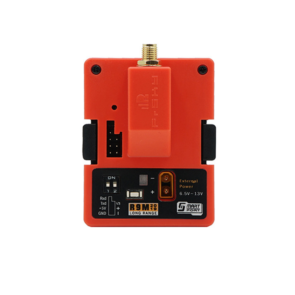 FrSky R9M 2019 900MHz Long Range Transmitter Module and R9 SX OTA ACCESS 6/16CH Long Range Enhanced Receiver Combo with Mounted Super 8 and T antenna
