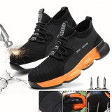 Unisex Safety Work Shoes Flying Weaving Steel Toe Cap Running Shoes Camping Climbing Walking Jogging Sneakers