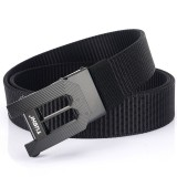 TUSHI 125×3.5cm Tactical Belt Nylon Webbing Heavy-Duty Quick-Release Metal Buckle Belt Fishing Hunting