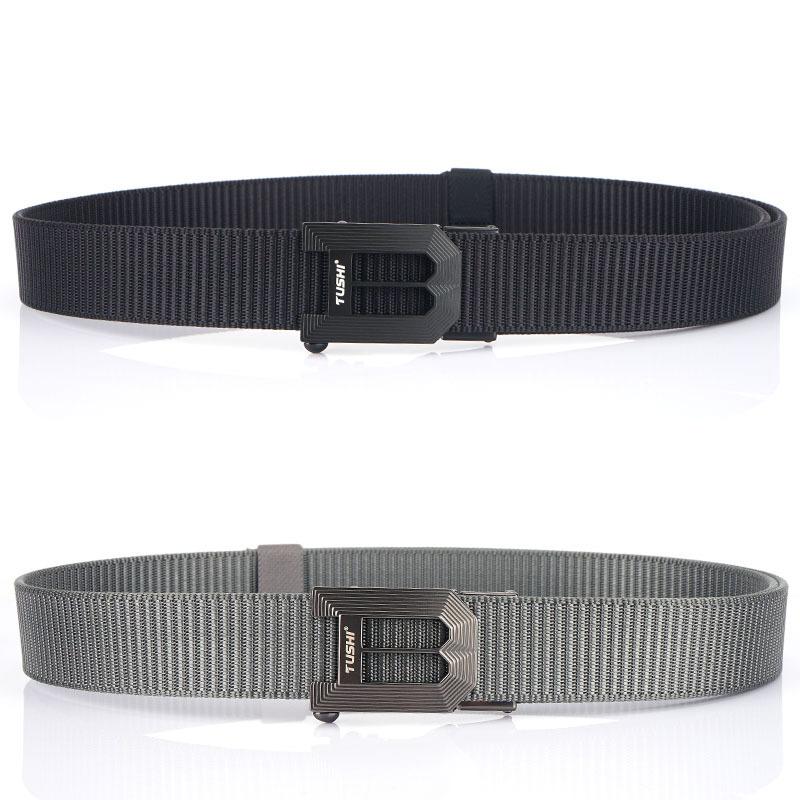TUSHI 125x3.5cm Tactical Belt Nylon Webbing Heavy-Duty Quick-Release Metal Buckle Belt Fishing Hunting