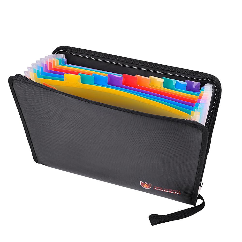 Fireproof File Folder Portable Heat Resistant Document Bag Bills Storage Organizer Home School Business Office Document Storage
