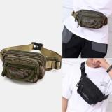 Men Waterproof Multi-pocket Camouflage Outdoor Chest Bag Belt Bag Sling Bag