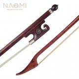 "Naomi Professional Snakewood Bow 16"" Viola Bow Baroque Style Bow Round Stick Snakewood Frog W/ Paris Eye Inlay Durable Use"