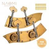 Naomi 1/2 1/4 Upright Bass Dual Tuner Machine Bass Pegs 1/2 1/4 Double Bass Tuning Pegs Head Winder Pegs SET