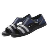 Men's Summer Beach Shoes Super Fiber Anti-slip Comfort Sandals Walking Hiking Lattice Casual Shoes