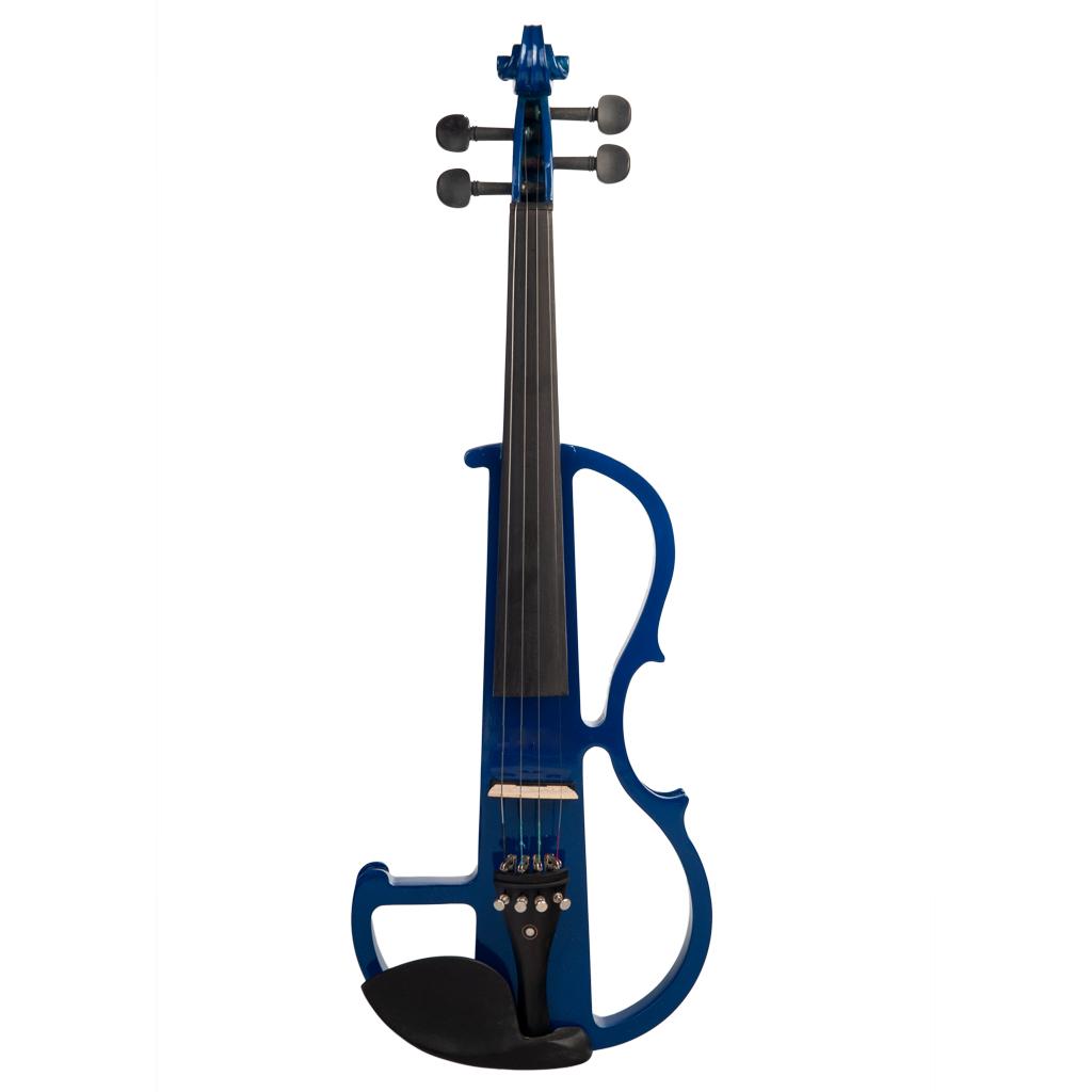 Naomi Violin Full Size 4/4 Solid Wood Electric Violin Basswood Body Ebony Fingerboard Pegs with Ebony Ebony Accessories