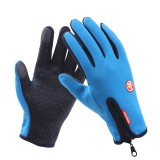 GOLOVEJOY 1 Pair Unisex Waterproof Winter Warm Cycling Gloves Touch Screen for Driving Hiking Skiing Gloves