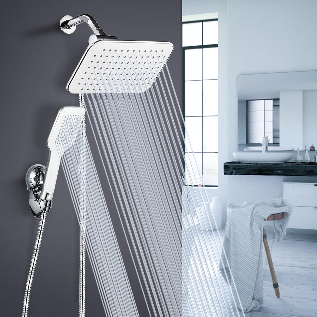 6Pcs 8 Inch Rainfall Shower Head Setting Large Angle-adjustable Shower Set