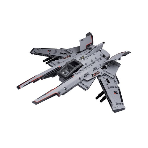 Jupiter Dawn Series Building Blocks Aquila Reconnaissance Aircraft Gray Static Building Blocks Toys