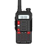 BAOFENG BF-UV10R Plus 16W 8800mAh UV Dual Band Two-way Handheld Radio Black Walkie Talkie 128 Channels LED Flashlight USB Rechargeable Outdoor Hiking Intercom