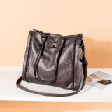 Angel Kiss Women PU Leather Vintage Large Capacity 13.3 Inch Laptop Bag Multi-carry Crossbody Bag Shoulder Bag Tote
