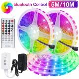5M/10M Bluetooth 3528 SMD RGB 600 LED Strip Light String Tape w/ 40Key IR Remote