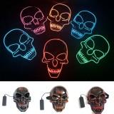 Halloween LED Mask Skull Glowing Mask Cold Light Mask Party EL Mask Light Up Masks Glow In Dark
