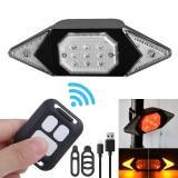 BORUiT 6-Modes Remote Control Smart Bike Turning Signal Taillight Intelligent USB Bicycle Rear Light LED Warning Lamp