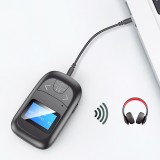 Bakeey bluetooth V5.0 Audio Transmitter Receiver Wireless Audio Adapter 3.5mm Audio Adapter Built-in Microphone Hands Free For Notebook PC TV Speaker Car Sound System Home Sound System