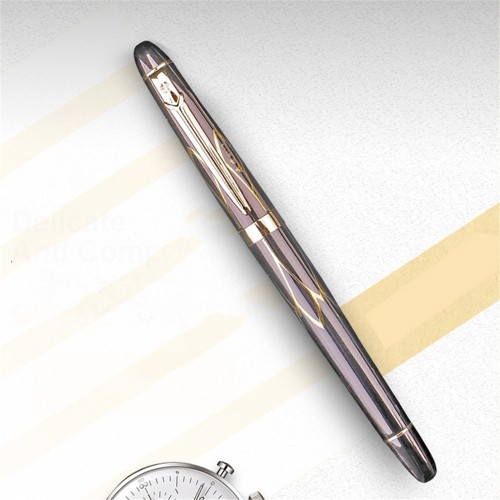 Yongsheng 9113 0.38mm Nib Metal Pen Iraurita Nib Gold Plating Fountain Pen Standard Type Ink Pen Writing Office School Stationery Supplies
