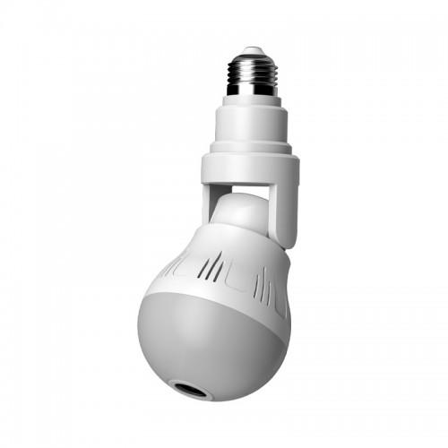 XIAOVV D5 360 Panorama 1080P WIFI Luminous IP Camera H.265 Two-way Audio V380 APP Control Lighting Bulb Lamp Wireless Security Surveillance Indoor IP Camera