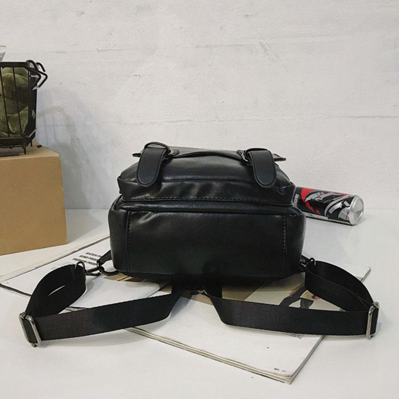 Men Retro Earphone Hole Multi-carry USB Charging Multi-Layers Waterproof Crossbody Bag Chest Bag Sling Bag
