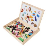 Wooden Magnetic Puzzle Kids Circus Drawing Board Educational Puzzle Toys Gifts