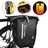WEST BIKING 25L Full Waterproof Bike Rack Bag Bicycle Carrier Saddle Bag Pannier Trunk MTB Road Bike Luggage Bags Accessories Black