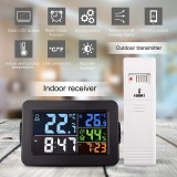 Bakeey Wireless Thermometer and Hygrometer Digital Display RF Indoor and Outdoor Thermometer with Alarm Clock