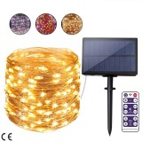 2020 Christmas Solar LED String Lights Outdoor Waterproof Solar Garland Fairy String Light for Party Garden Christmas Decoration Lamp