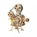 LK601 DIY Classic Wooden Vintage Movie Projector DIY 3D Vitascope Kit Wooden Puzzle Retro Projector