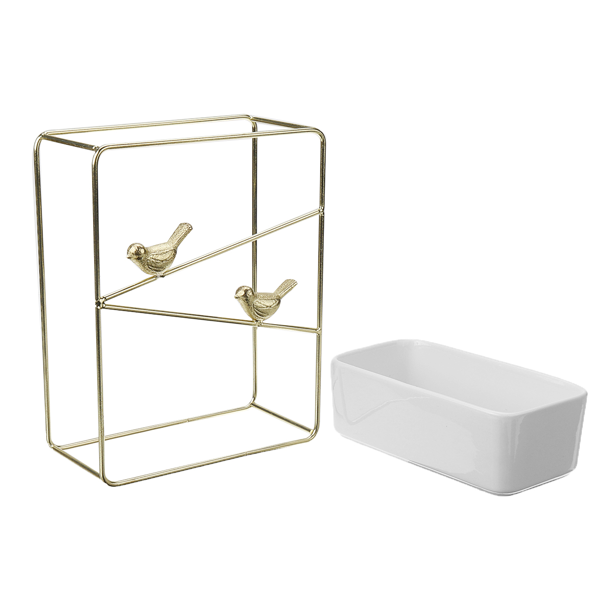 Retro Creative Flower Pot Nordic Minimalist Ins Wrought Iron Ceramic Flower Pot Gold-plated Wall Hanging Meaty Flower Pot