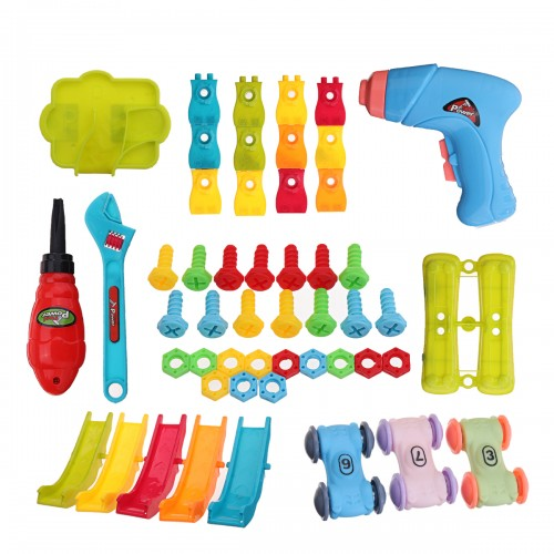 211PCS DIY Electric Drill Screwdriver Toys Nut Disassembly 3D Puzzle Kids Educational Toys Gift