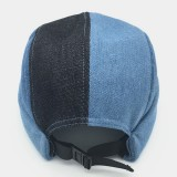 Men New Fashion Trend Multi-color Contrast Stitching Cowboy Hat Brimless Hats Caps Fashion Skull Caps