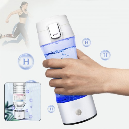 350ML SPE/ PEM Hydrogen Rich Generator Water Ionizer Bottle with Drain Hole Seperate H2 and O2 High Pure Hydrogen PET Bottle