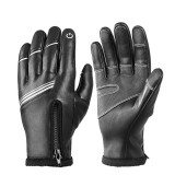WEST BIKING Winter Cycling Gloves Touch Screen MTB Bike Glove Warm Fleece Thermal Ski Fishing Men Motorcycle Gloves