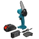 """550W 24V 4"""" Mini Cordless One-Hand Electric Chain Saw Woodworking Wood Cutter W/ 1pc Battery"""