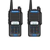 2 PCS BAOFENG UV9R-AMG 15W IP68 Waterproof UV Dual Band Two Way Handheld Radio Walkie Talkie 400-470MHz 128 Channels Blue Button Sea Land Hotel Civilian Intercom