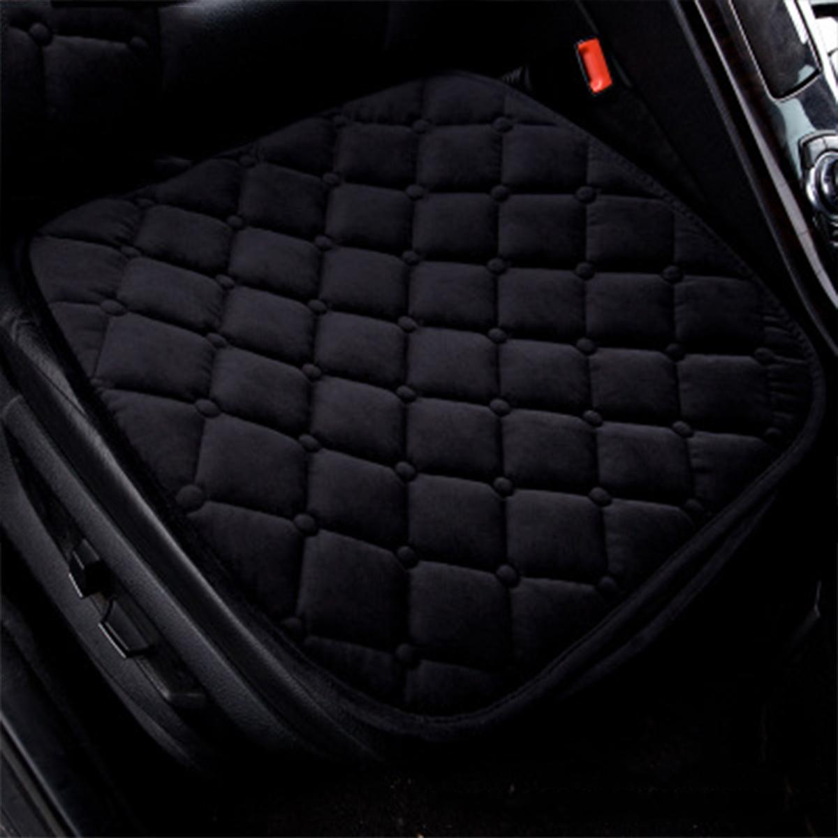Universal Front Car Cushion Short Fleece Fabric Seat Cover Cushion Comfortable Protection Pad Mat Warmer Pad