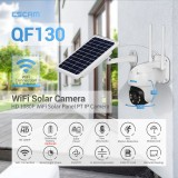 ESCAM QF130 1080P PT WIFI Battery PIR Alarm IP Camera With Solar Panel Full Color Night Vision Two Way Audio IP66