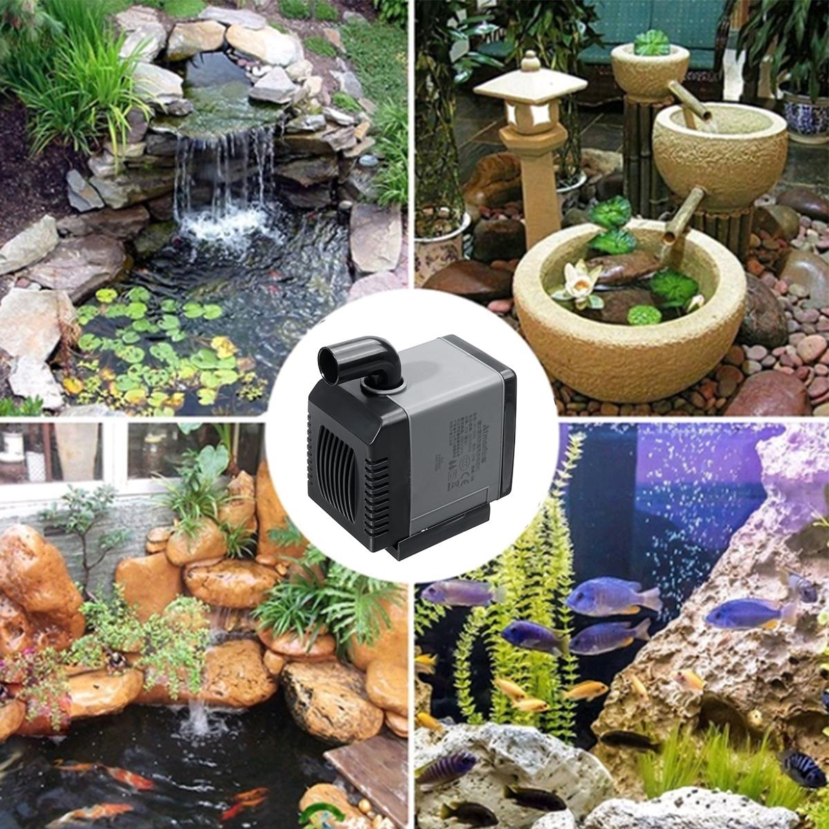 5-13W 220-240V Ultra-Quiet Submersible Water Pump Waterproof Fish Pond Aquarium Tank Fountain
