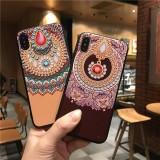 Fashion Chinoiserie Diamond Pattern 3D Embossed Anti-slip Anti-fingerprint Shockproof TPU Protective Case for iPhone X / XS / XR / XS Max / 6 / 7 / 8 / 6S Plus / 6 Plus / 7 Plus / 8 Plus