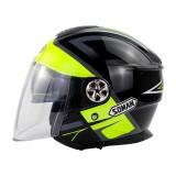 SOMAN Open Face Motorcycle Helmet Dual Lens ECE Casco Moto Electric Bicycle Fluorescence Helmet Men Women Chopper Scooter Helmet Motorcycles