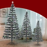 2020 Christmas Decorations Artificial Plastic Christmas Tree Holder Base for Christmas Home Party Decoration Green Miniature Tree