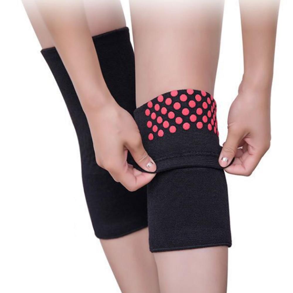 Boer 1 Pair Mugwort Self-heat Elastic Knee Pad Sports Fitness Autumn Winter Warm Legs Arthritis Protector Knee Brace Support
