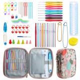 CK166 21PCS DIY Crochet Set Colorful TPR Soft Handle Crochet Sweater Hook Sweater Alumina Crochet Set for Home Handmade Products