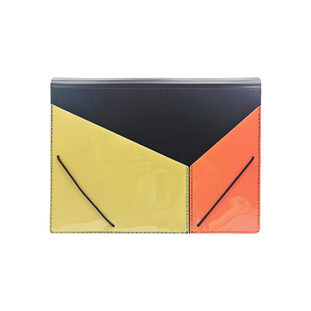 Multi-color File Folder 13 Pockets Document Organizer Accordion A4 Size File Folder Bag for Business Office Study Home