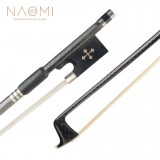 NAOMI 4/4 Violin/Fiddle Bow Grid Carbon Fiber Bow W/ Ebony Frog Round Stick Exquisite Horsehair Well Balance