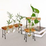 Creative Glass Hydroponic Vase Office Desktop Decoration Green Plant Container Transparent Planter Fresh Office Desktop Decoration Vase for Office
