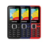 UNIWA E1801 1.77 Inch 800mAh Wireless FM Radio bluetooth Flashlight Dual SIM Dual Standby Feature Phone