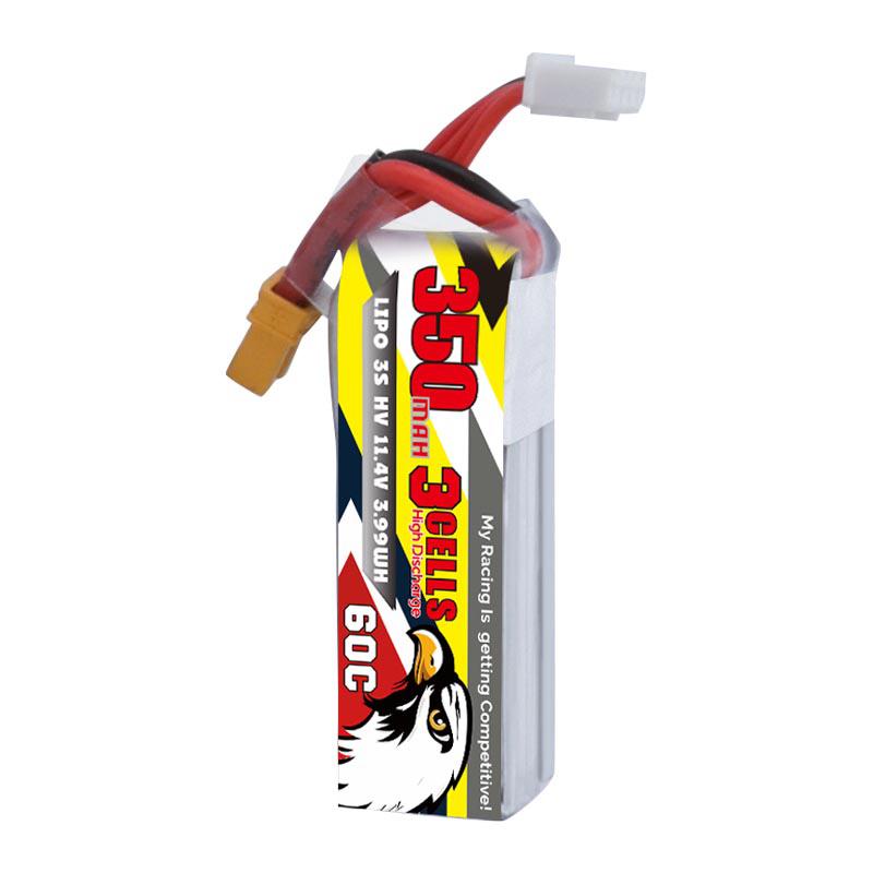 CODDAR 11.4V 350mAh 3S 60C HV Lipo Battery XT30 Plug for BetaFPV Beta85X Toothpick Whoop