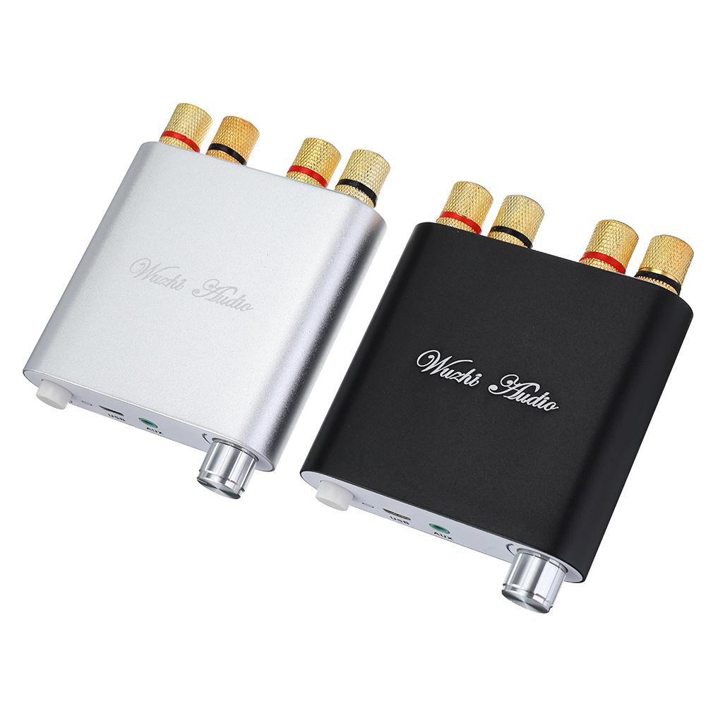 ZK-502D bluetooth 5.0 Audio Power Amplifier Module Board 50W*2 Dual-channel Stereo Aluminum Alloy Shell