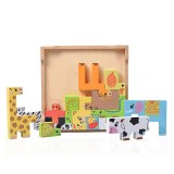 Wooden Animal Jigsaw Puzzles Toy Board Set Educational Toy School Supplies for Children 3-8 Years Old Toddler Kid