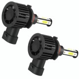 F8 9005 2 PCS 22W 3000LM 6000K Four Side DOB LED Headlight Fog Light Bulbs High Beam Conversion Kit DC 9-32V